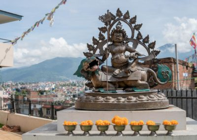 Kanchan Yoga Training & Retreat Center Statue